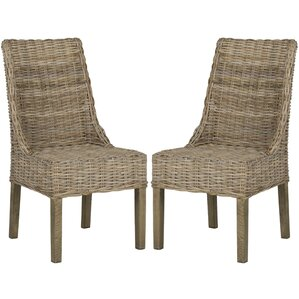 wanda side chair set of 2 wicker and rattan dining chairs inspiration for