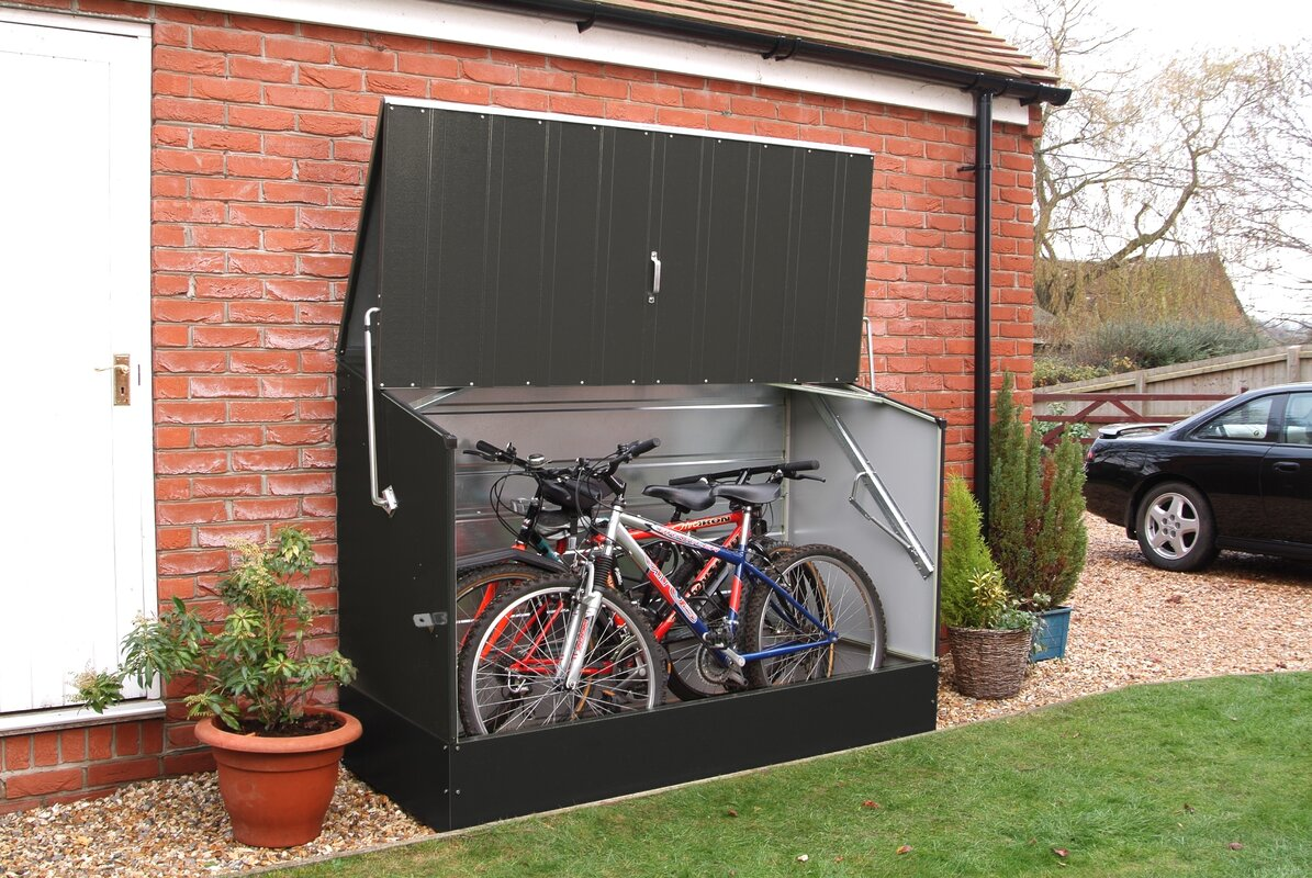 Garden Sheds 6 X 2 rowlinson 6 ft. 5 in. w x 2 ft. 11 in. d metal horizontal bike