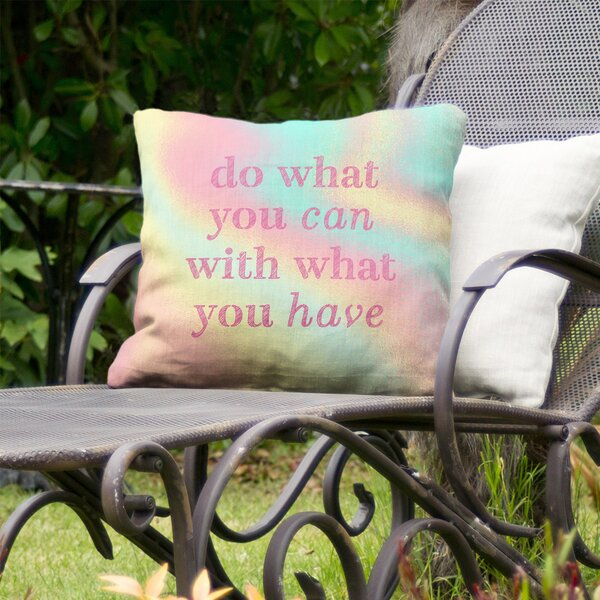 Do What You Can Indoor/Outdoor Throw Pillow