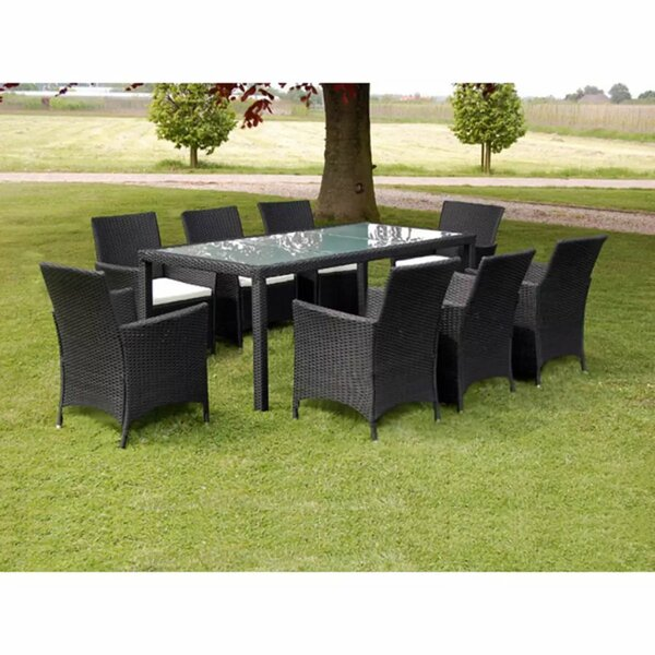 Swanscombe Outdoor 9 Piece Dining Set with Cushions by Ivy Bronx