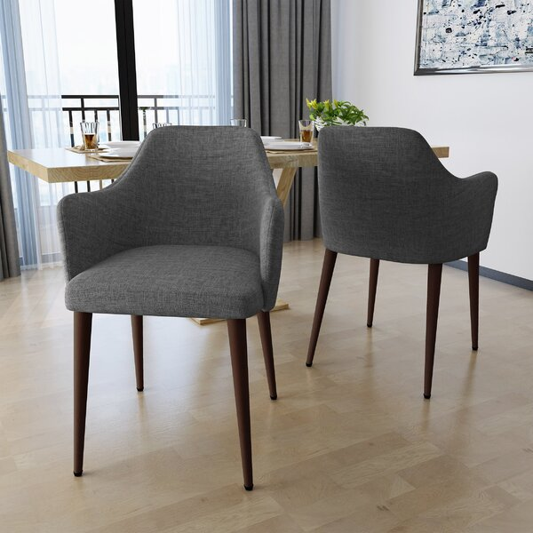 Piner Upholstered Dining Chair (Set of 2) by Wrought Studio