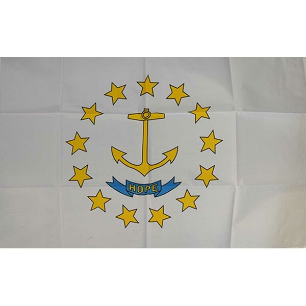 Rhode Island State Traditional Flag by NeoPlex