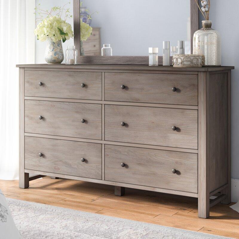 Lark Manor Aguirre 6 Drawer Dresser With Mirror Reviews Wayfair