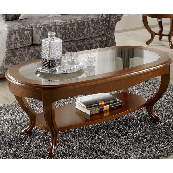 Royce Oval Glass Top Coffee Table by Canora Grey