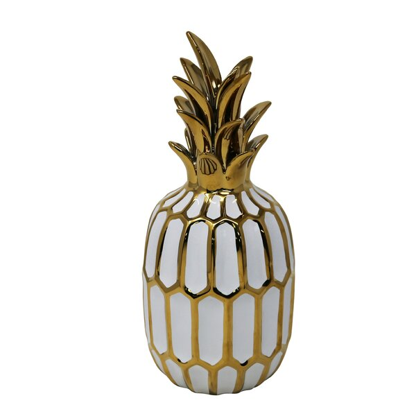 Octavia Ceramic Pineapple Sculpture by Mercer41