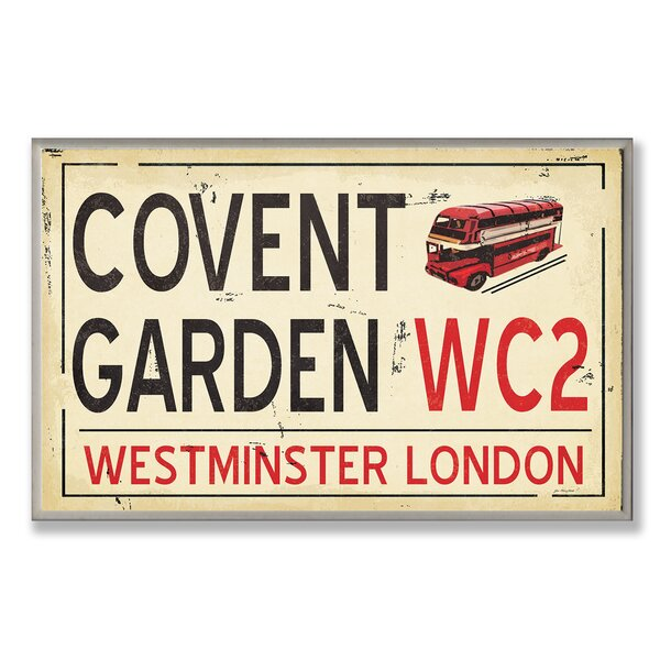 Covent Gardens WC2 Railroad Textual Art Wall Plaque by Stupell Industries