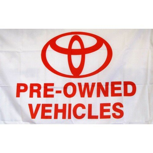 Toyota Pre Owned Vehicles Polyester 2 x 3 ft. Flag by NeoPlex