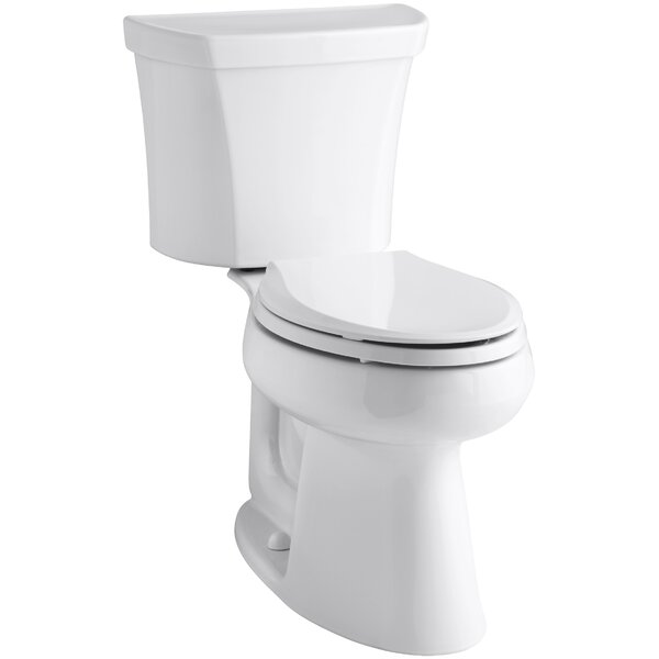 Highline Comfort Height 2-Piece Elongated Dual-Flush Toilet with Class Five Flush Technology and Right-Hand Trip Lever by Kohler