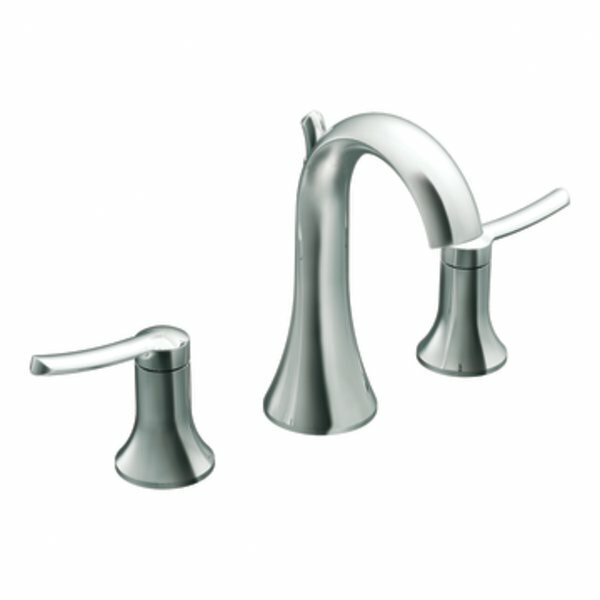 Fina Widespread Bathroom Faucet with Drain by Moen