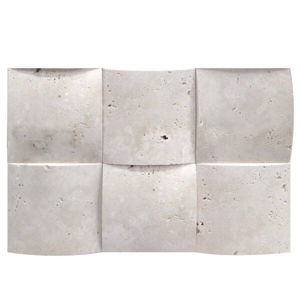 3D Honed 4 x 4 Natural Stone Mosaic Tile in White by QDI Surfaces