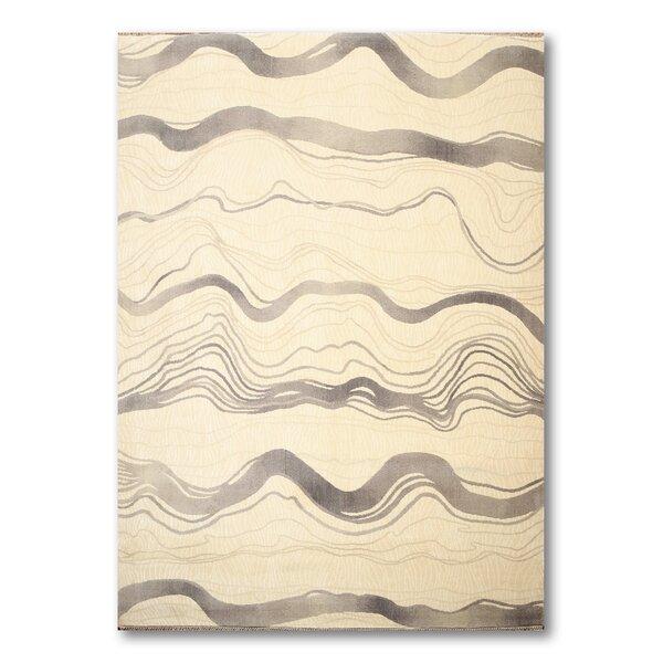 Schaper Wool Gray/Ivory Area Rug by Orren Ellis