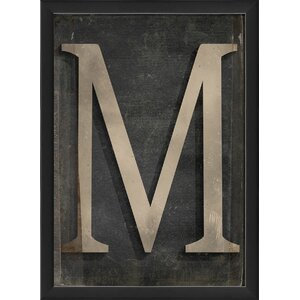 Letter M Framed Textual Art by The Artwork Factory