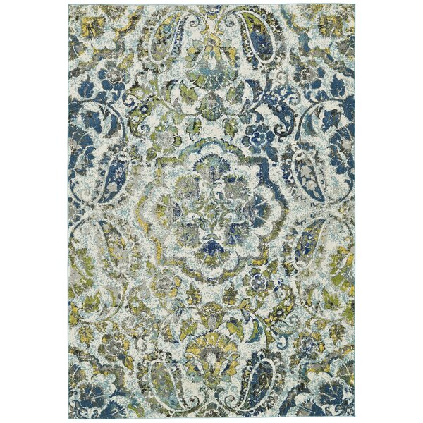 Anabranch Green/Blue Area Rug by World Menagerie