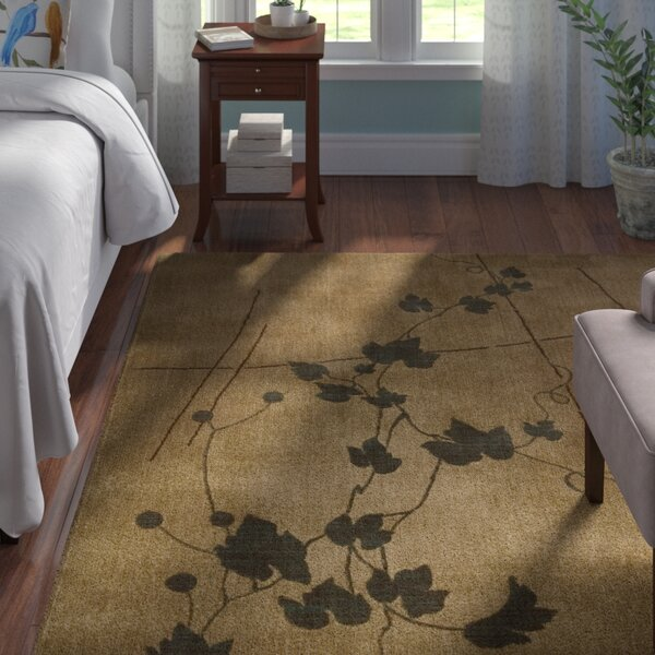 Smithtown Gold Pattern Area Rug by Andover Mills
