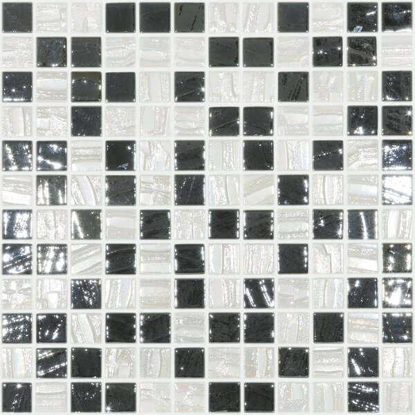 Moon Blends 12.375 W x 12.375 L Eco Glass Mosaic in Moonshine by Kellani