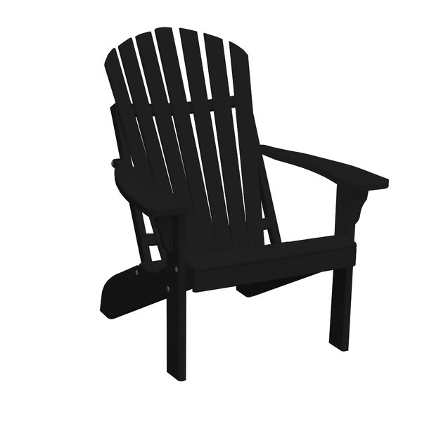 Marcellina Pine Fanback Wood Adirondack Chair by Highland Dunes Highland Dunes