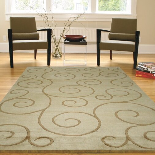 Mystic Vines Hand-Knotted Natural Area Rug by Red Barrel Studio