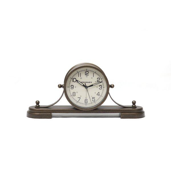 Natical Tambour Tabletop Clock by Crosley