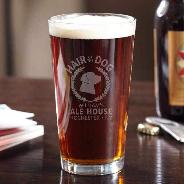 Hair of the Dog Personalized 16 oz. Glass Pint Glass by Home Wet Bar
