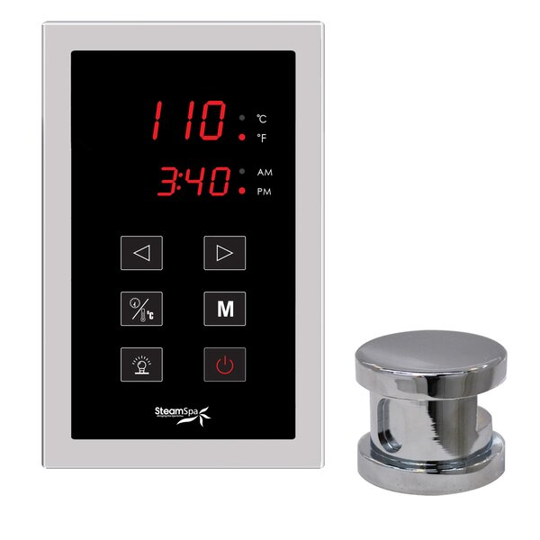 SteamSpa Oasis Touch Panel Kit Steam Generator Control by Steam Spa