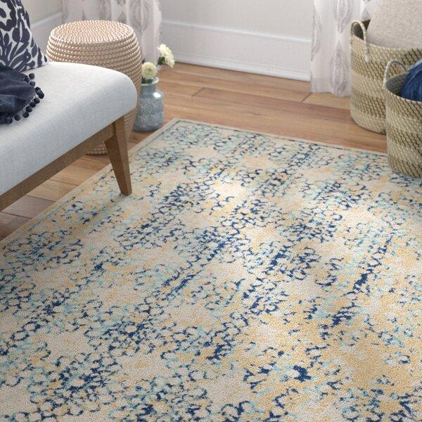 Elson Rectangle Ivory/Blue Area Rug by Mistana