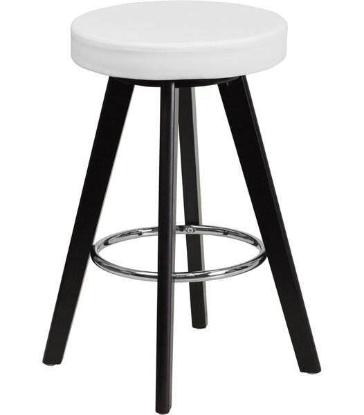 Outen Backless 24'' Bar Stool by Wrought Studio