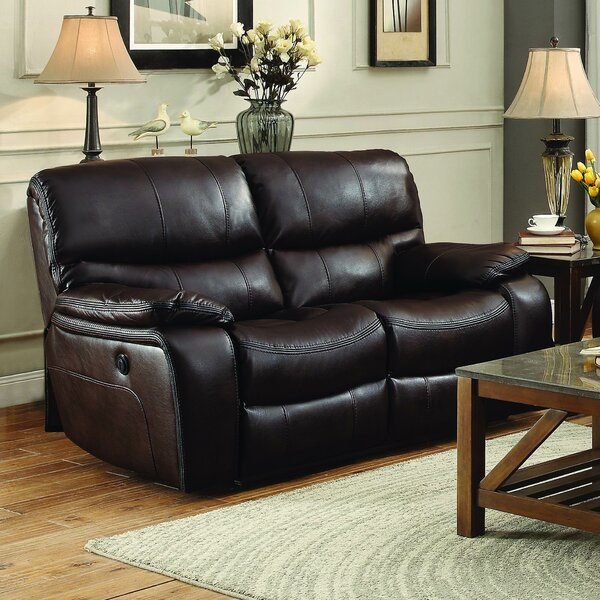 Modern Brand Lovitt Reclining Loveseat by Latitude Run by Latitude Run