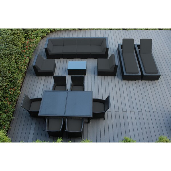 Elkview 16 Piece Complete Patio Set with Cushions by Ebern Designs