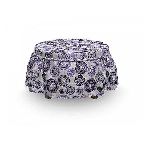 Mandala 2 Piece Box Cushion Ottoman Slipcover Set By East Urban Home