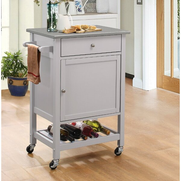 Rodger Kitchen Cart with Stainless Steel Top by Charlton Home