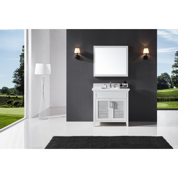Magdalen 36 Single Bathroom Vanity Set with Mirror by Highland Dunes