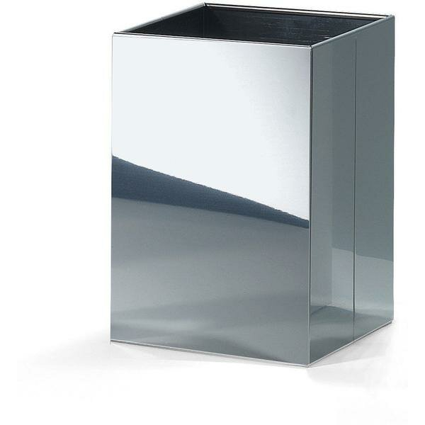 Square Top Stainless Steel Open Waste Basket by AGM Home Store