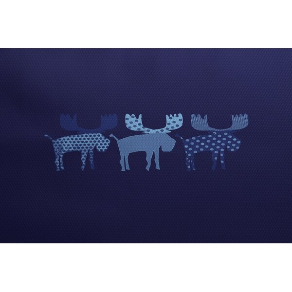 Reindeer Blue Indoor/Outdoor Area Rug by The Holiday Aisle