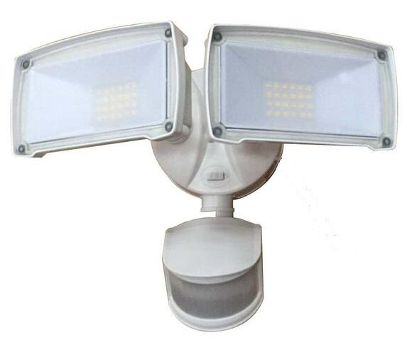 Motion Activated Dual Head LED Flood Light by Deck Impressions