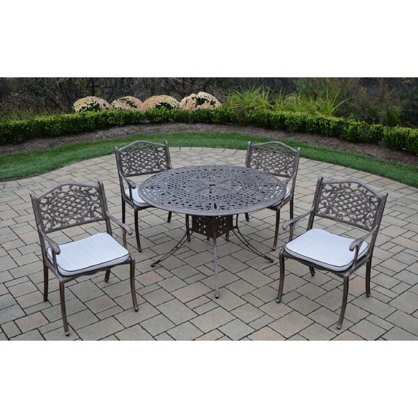 Capitol 5 Piece Dining Set with Cushions by Oakland Living
