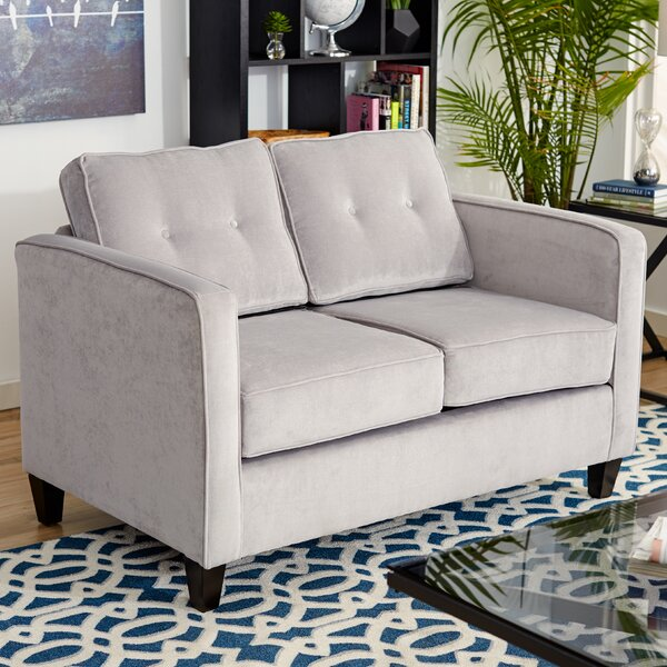 Hot Price Serta Upholstery Dengler Loveseat by Ebern Designs by Ebern Designs