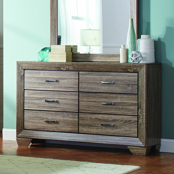 Zuri 6 Drawer Double Dresser by Union Rustic