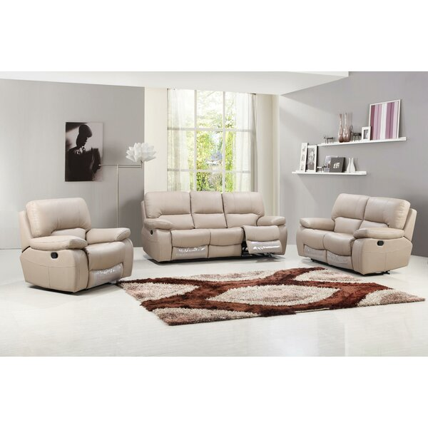 Claverton Reclining 3 Piece Living Room Set (Set of 3) by Red Barrel Studio