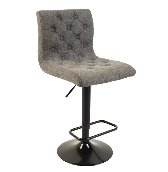Wagner Adjustable Height Swivel Bar Stool by Charlton Home