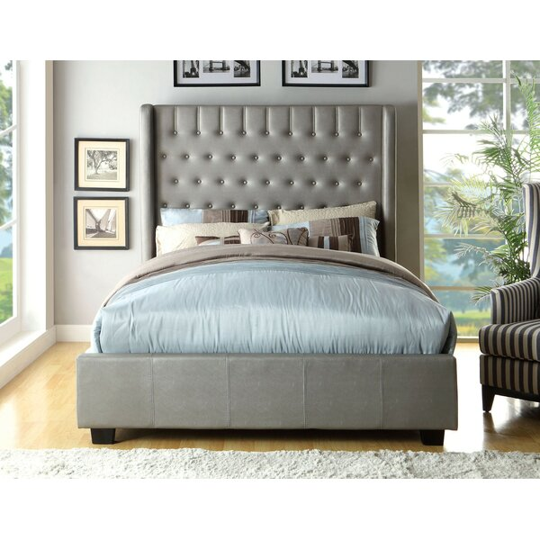 Odelia Wingback Upholstered Standard Bed by Everly Quinn