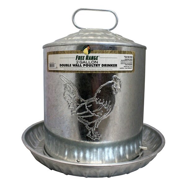 Nevin Metal Wall Chicken Water Fountain by Tucker Murphy Pet