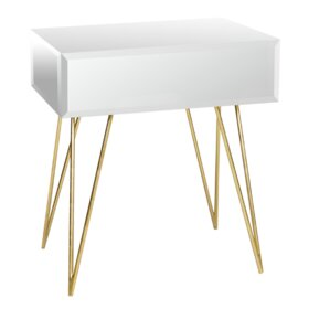 Mirrored 1 Drawer End Table by Worlds Away