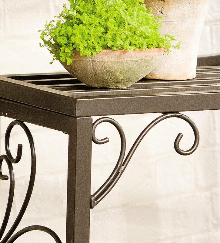 Plow Amp Hearth Rectangle 3 Piece Plant Stand Set Amp Reviews