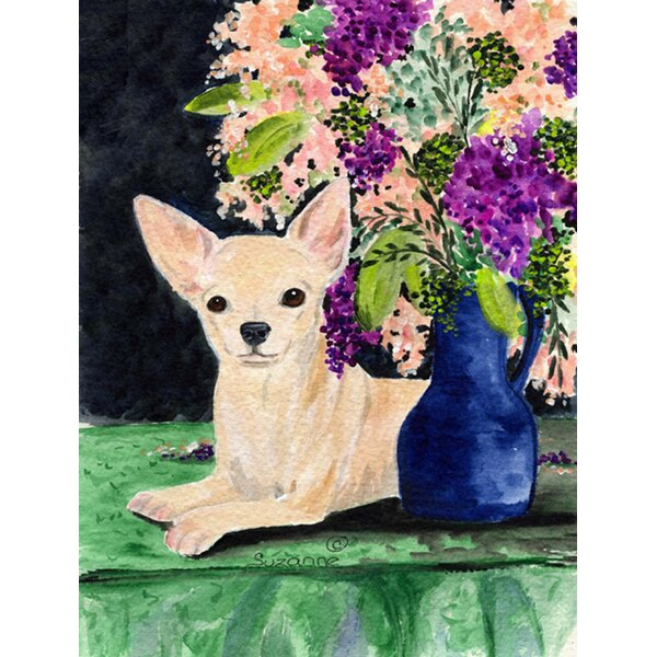 Chihuahua House Vertical Flag by Caroline's Treasures