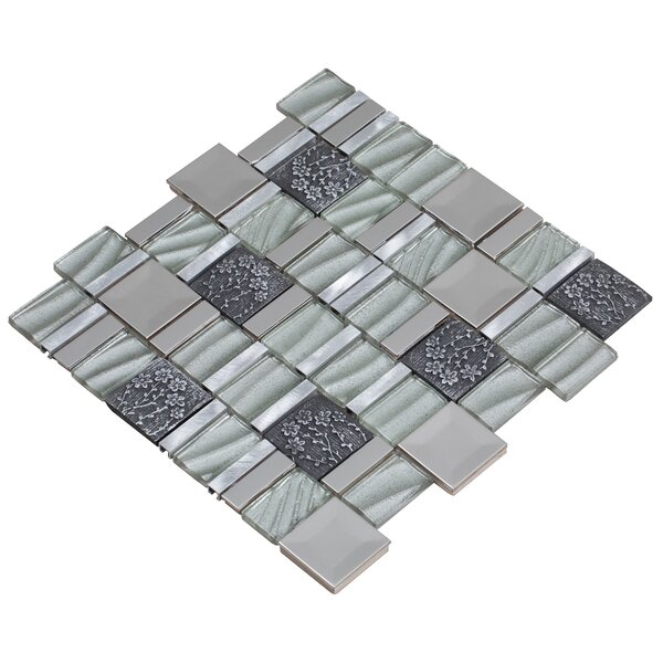 Vitray 12 x 12 Mixed Material Mosaic Tile in Silver by Mirrella