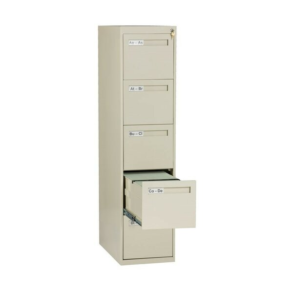 5 Drawer Vertical Letter Size File Cabinet by Tennsco Corp.
