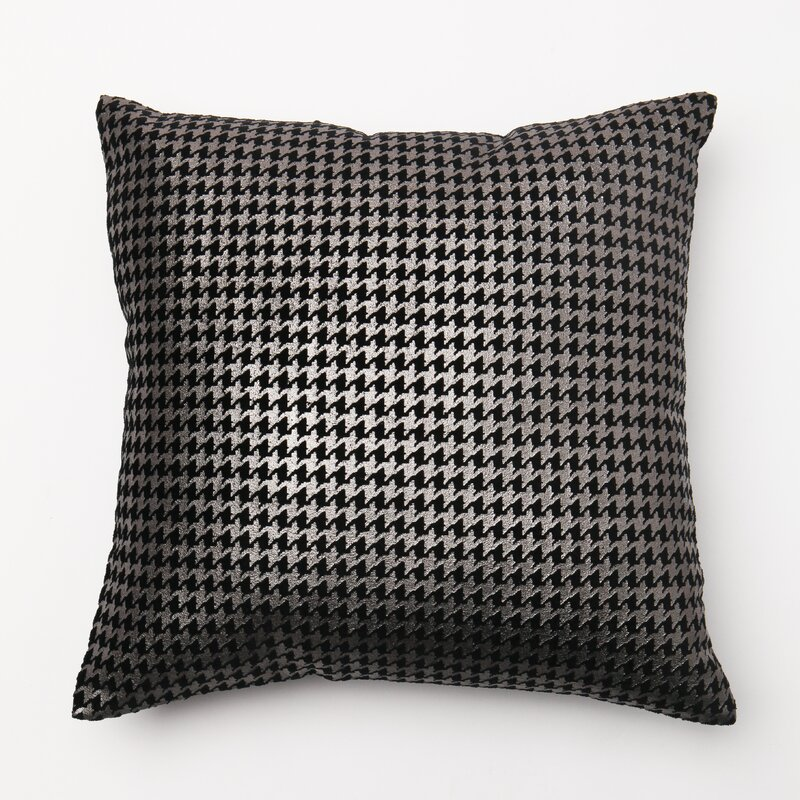 Best Home Fashion Inc Houndstooth Throw Pillow Cover & Reviews