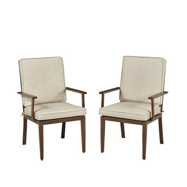 Mauricio Patio Dining Chair With Cushion (Set Of 2) By Longshore Tides by Longshore Tides Cool