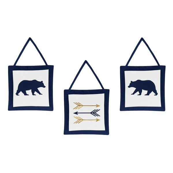 Big Bear 3 Piece Wall Hanging Set by Sweet Jojo Designs