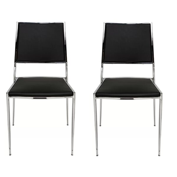Cowger Contemporary Upholstered Dining Chair (Set of 2) by Orren Ellis